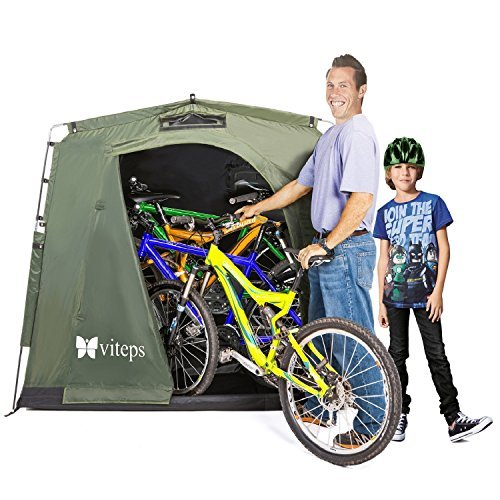 Viteps Space-Saving Outdoor Storage Shed Tent, Stores Bicycles, Tools Storage, Toys, Pool Supplies Storage and More for 3 Seasons in The Year, Waterproof, Portable Tent That is Easy to Assemble