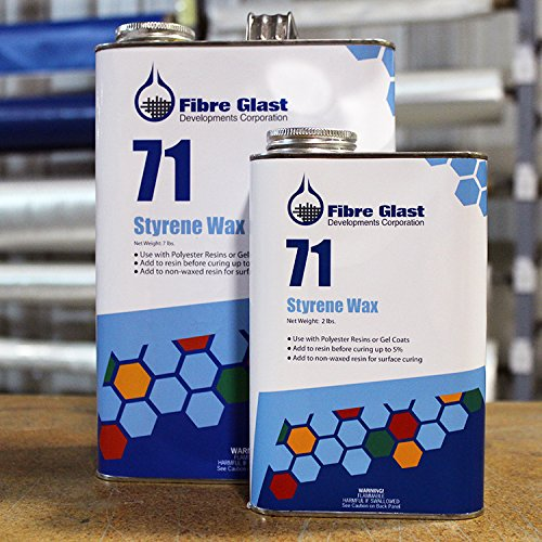 Fibre Glast Styrene Wax - 1 Quart (2 Pounds) - Get a Complete Cure for Polyester Resins by Fibre Glast