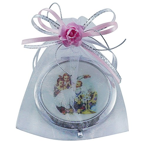12 Pcs Baptism Party Favors for Girl-Recuerdos de Bautizo / Baby Angels Makeup Compact Mirrors with Decorated Pouches]()