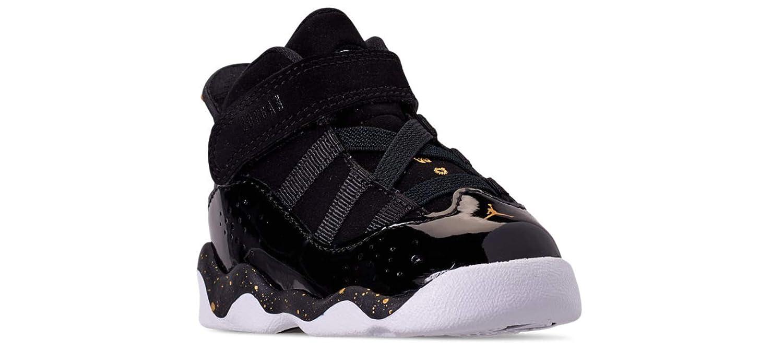 detailed pictures 1cfe7 9e7f5 Amazon.com | Jordan 6 Rings Black/Metallic Gold-White (TD ...
