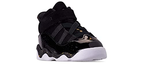 new concept 38ce3 8cae9 Image Unavailable. Image not available for. Color  Jordan 6 Rings Black Metallic  Gold-White ...