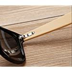 Shiratori Prevent Radiation Classic Bamboo Wood Sunglasses 7 The perfect combination of metal and bamboo. Can reflect the wearer's fashion and personality. The use of human body nose care, more humane design, so that the eyes wear more comfortable, not easy to fall. Unique hinge design, so that the mirror legs more solid, after layers of grinding production.
