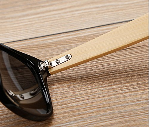 Shiratori Prevent Radiation Classic Bamboo Wood Sunglasses 2 The perfect combination of metal and bamboo. Can reflect the wearer's fashion and personality. The use of human body nose care, more humane design, so that the eyes wear more comfortable, not easy to fall. Unique hinge design, so that the mirror legs more solid, after layers of grinding production.