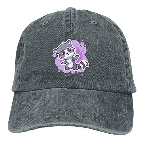 DEFFWB Hat Cute Animals Denim Skull Cap Cowboy Cowgirl Sport Hats for Men Women