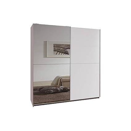 Inside Dressing A Portes Coulissantes Clapton 135cm Coloris Blanc