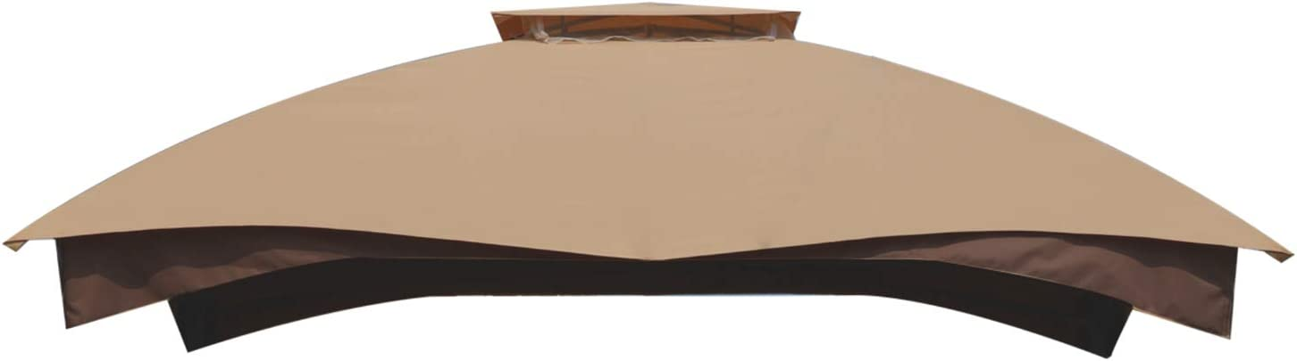 "COWVIE Garden Gazebo Top Roof Replacement Cover 10"" x 12"" for Lowe's Allen Roth - #GF-12S004B / #TPGAZ17-002 / #GF-12S004BTO"