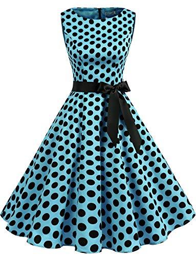 Gardenwed Women's Audrey Hepburn Rockabilly Vintage Dress 1950s