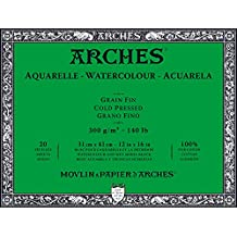 """Arches Water Colour Block, 140lb / 300GSM, Cold Pressed, 12"""" x 16"""""""
