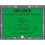 Arches Watercolor Paper Block, Cold Press, 12'' x 16'', 140 pound