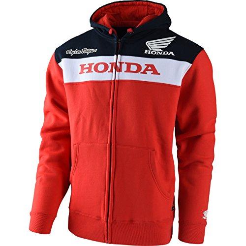 - Troy Lee Designs Official Licensed Honda Zip Up Fleece (Large, Red)