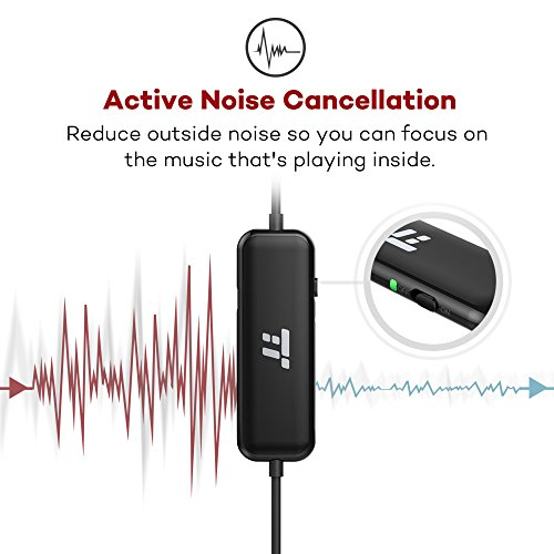 taotronics active noise cancelling in ear wired headphones. Black Bedroom Furniture Sets. Home Design Ideas