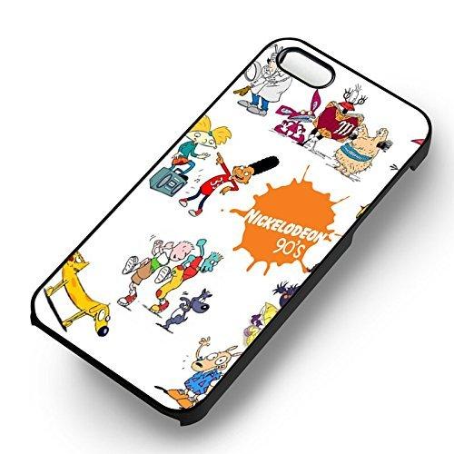 Nick 90's Nickelodeon pour Coque Iphone 6 et Coque Iphone 6s Case (Noir Boîtier en plastique dur) K7M3OX