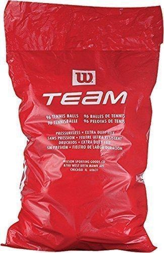 Wilson Team Trainer 8 dozen sack Tennis Balls - Yellow by Wilson