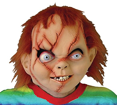Chucky Seed Of Evil Bad Boy Doll Scary Latex Adult Halloween Costume Mask]()