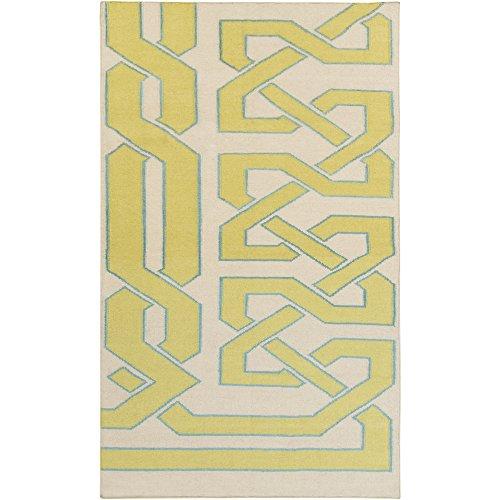 Beth Lacefield by Surya Alameda AMD-1032 Flatweave Hand Woven 100% Wool Bone 3'3