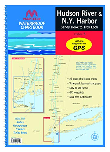 MAPTECH Hudson River Waterproof Chartboook: Hudson River and New York Harbor