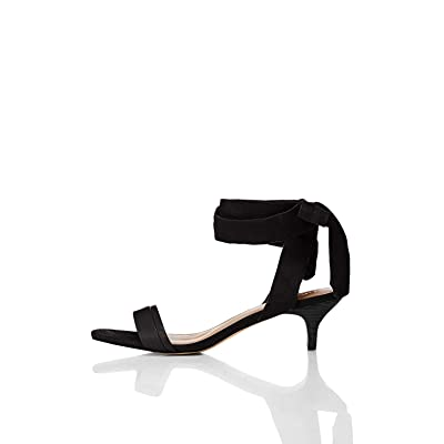 Brand - find. Women's Tie Up Sandal With Kitten Heel: Shoes