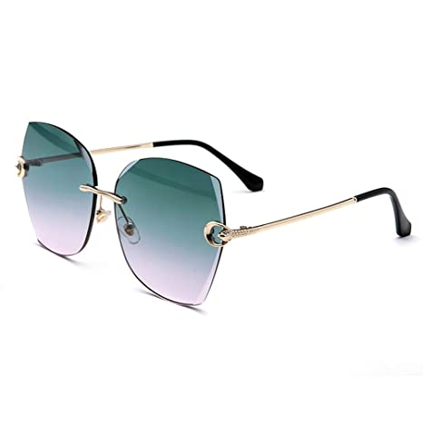 LENGKANG-EU Nuevas Gafas de Sol sin Marco de película de ...