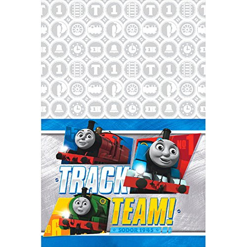 Napkins Thomas All Aboard Train Party Supplies Pack for 16 Guests Train Decorations for The Perfect Train Birthday Party and 1 Table Cover Dinner and Dessert Plates 16 Cups 24 Straws
