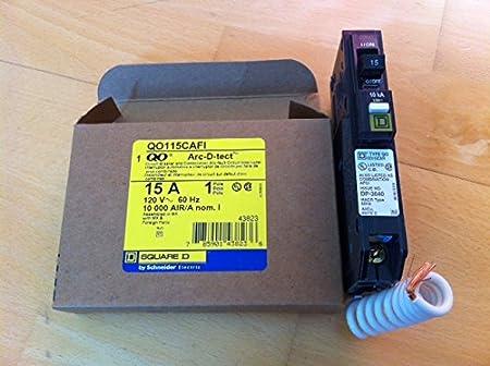 15A 1P Circuit Breaker SQUARE D QO115CAFI