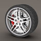 Kabis Car Rimblades Silver Gray Color Alloy Wheel Rim Protector Tyres Tire Guard Rubber Moulding