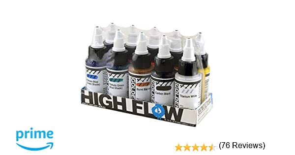Amazon Golden High Flow Acrylic Assorted 10 Color Set