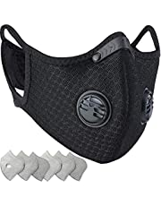 Dust Mask, Amazer Tec Reusable Dust Pollution Mask with Activated Carbon Filter for Woodworking House Cleaning Gardening and Outdoor Activities (1, Black)