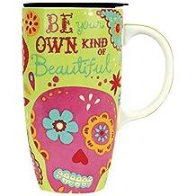 Karma, by Stephen Joseph KA140929 Happy Trails Sugar Skull Travel Mug, Multicolor