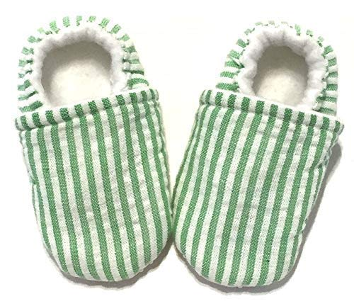 010f67894147 Seersucker Baby Shoes, First Baby Shoes, Baby ... - Amazon.com