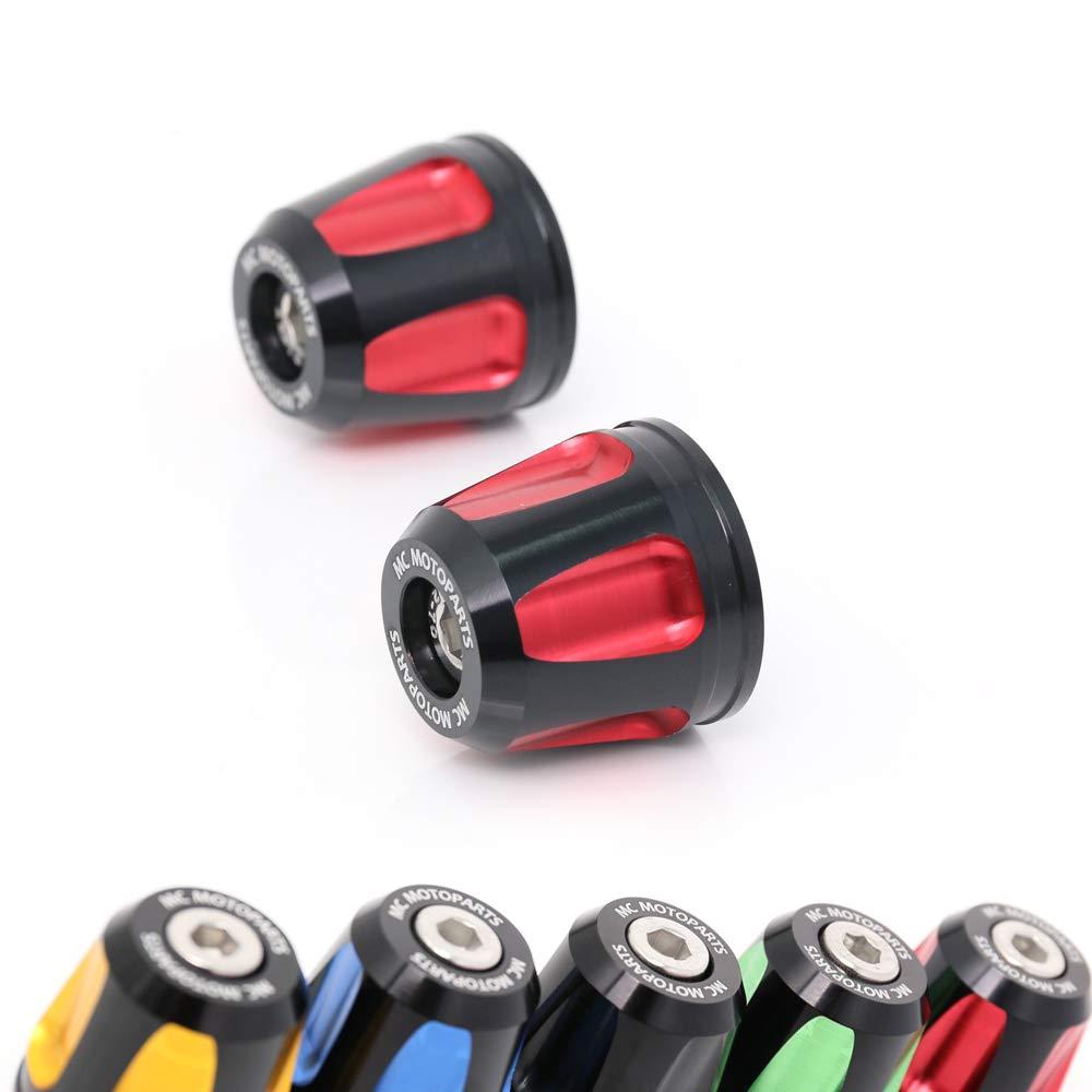 Red KAIXA CNC Bar Ends Sliders For Kawasaki ZX-6R 6RR Z1000 Z650 Z900 Z900RS Z800 Ninja 650R Ninja 300R 250R 300 250 650