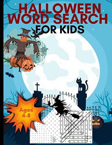 Halloween Themed Word Search (Halloween Word Search For Kids: Large Print Kids Word Search Books Ages 4-8| 88 Halloween Themed Word Search Puzzle Book Gift| Halloween Gift For Kids (Gag)