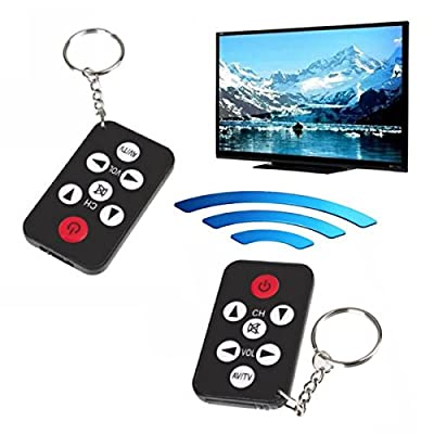 Black Mini Universal Wireless Infrared IR TV Remote Control 7 Keys Button Keychain Smart Remote Controller