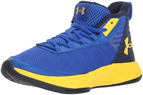 Under Armour Boys' Grade School Jet 2018 Basketball Shoe, Team Royal (402)/Midnight Navy, 7 (Best Under Armor Basketball Shoes)