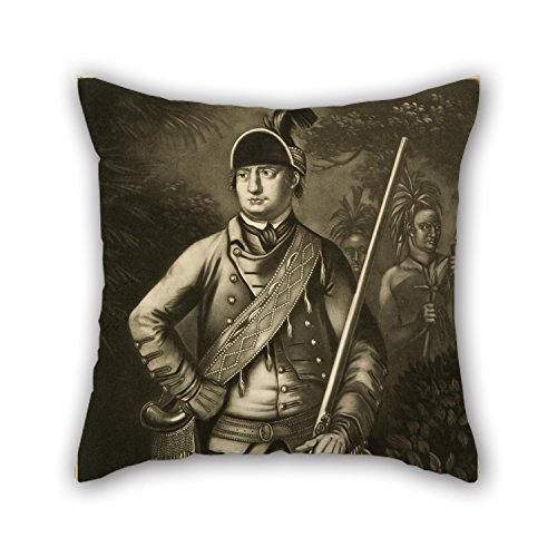 [Loveloveu Oil Painting Thomas Hart - Major Robert Rogers, Commander-in-Chief Of The Indians In The Back Settlements Of America Pillow Covers ,best For Outdoor,divan,drawing Room,relatives,chair,bf] (Star Wars Commander Fox Costume)