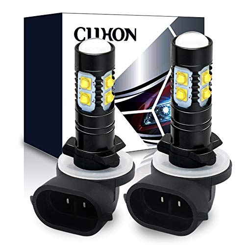 CIIHON 881 LED Fog Light Bulb 886 896 50W 3535SMD White 6000K 1600 Lumens DRL Driving Fog Lights Bulbs 894 862 888 Replacement Pack of 2, 1 Year Warranty