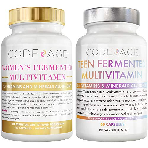 Codeage Immunity Bundle Multivitamin for Women + Multivitamin for Teens
