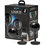 Geeni LOOK 2 Pack 1080p HD Smart Wi-Fi Security Camera System with Night Vision, Motion Detection, 2 Way Audio,Remote Access with iOS Android App, No Hub Required, Black
