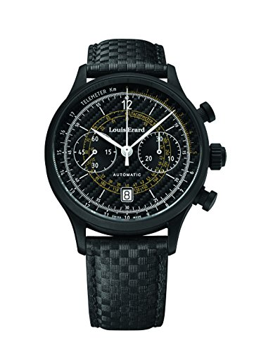 Louis Erard 1931 Collection Swiss Automatic Black Dial Telemeter Men's Watch 71245NN12 black PVD