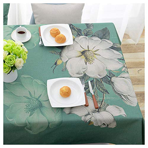 THOR-BEI Nappe Imperméable Nappe Nappe Coton Et Lin Rectangulaire Jardin Impression Table Nappe (taille   140  200, style   6)