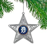 Boelter MLB Detroit Tigers Silver Star Ornament, Silver, 4""