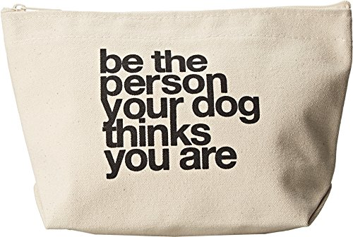 Dogeared Women's Be The Person Your Dog Thinks You Are Lil' Zip Canvas Tote - Lil Zip Bag