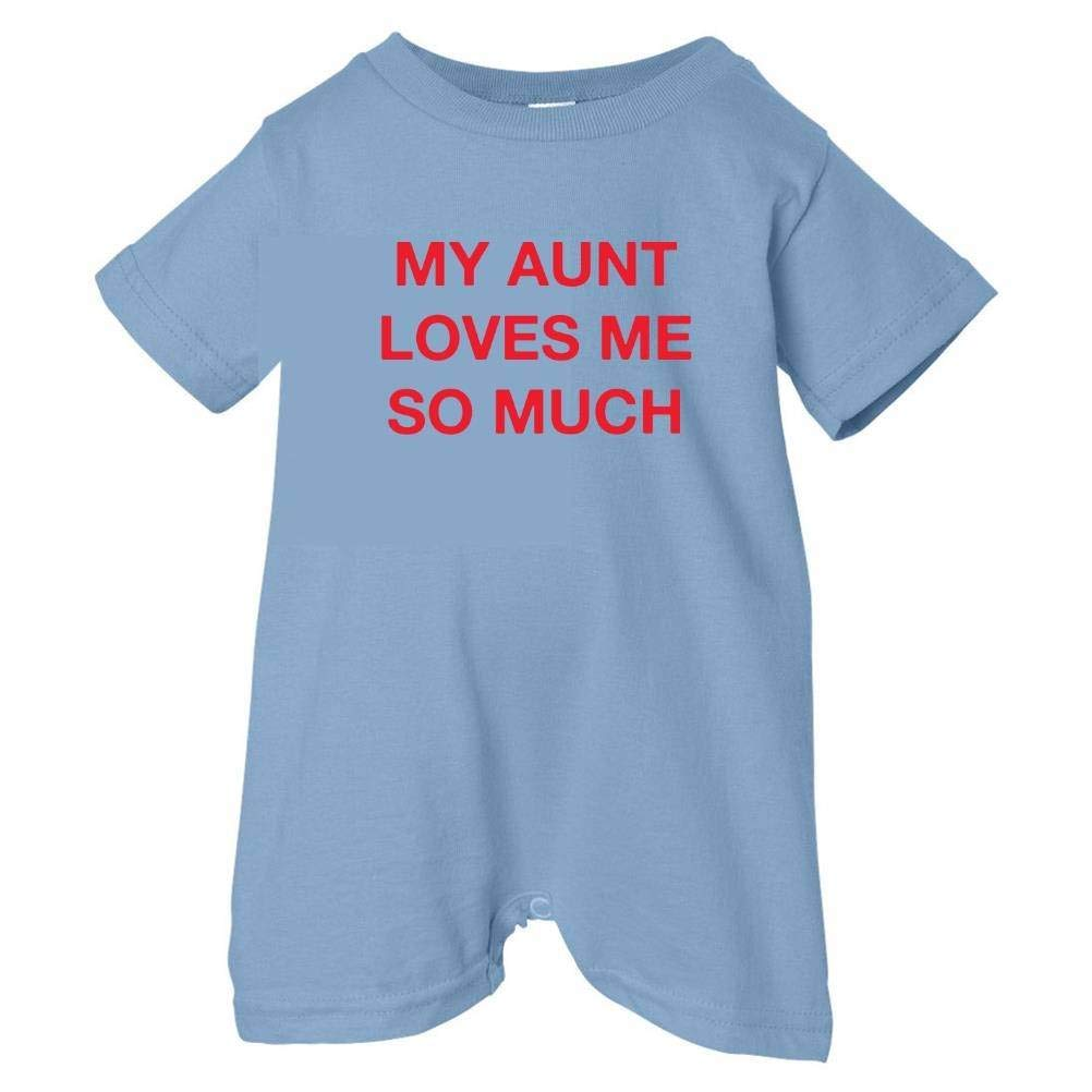 So Relative Unisex Baby My Aunt Loves Me So Much T-Shirt Romper
