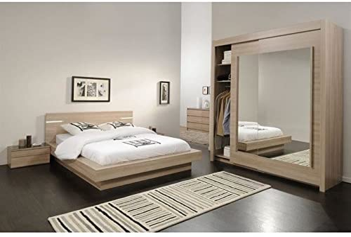 DREAM Chambre complete adulte avec lit 8x8 cm: Amazon.fr