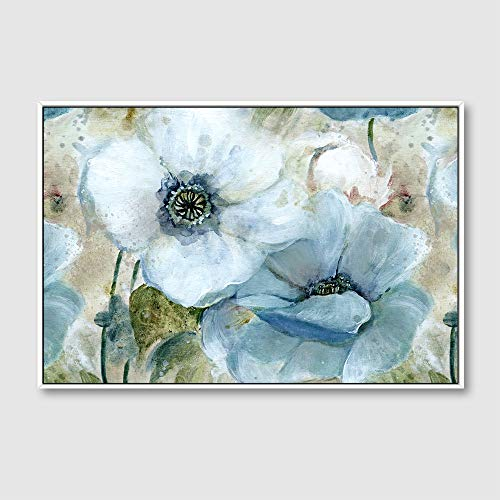 Framed for Living Room Bedroom Vintage Style Beautiful Flower Theme for