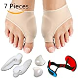 Bunion Relief & Bunion Corrector Protector Sleeves Kit - Treat Pain in Hallux Valgus, Tailors Bunion, Big Toe straightener, Hammer Toe, Toe Separator Spacers bunion Splint Aid Surgery Treatment Night