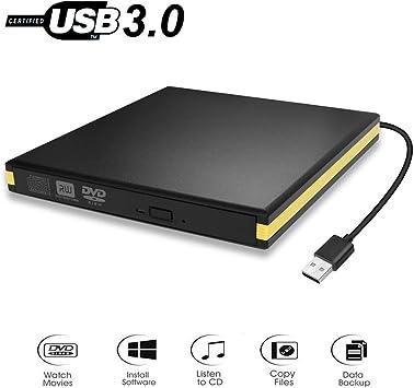 BEVA Lectore CD/DVD Externo, Unidades CD/DVD Externa USB 3.0 CD/DVD-RW Reproductor Grabadora CD Externa Portatile Ultradelgado para Windows 7/8/10/XP/Vista, Linux, Mac OS: Amazon.es: Electrónica