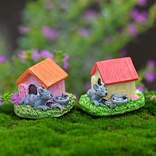 STORE-DECORATIVE - Animal House Figures Miniature Figurine for mini fairy garden Aquarium fish tank animal statue resin craft TNB047 by STORE★DECORATIVE★ (Image #4)