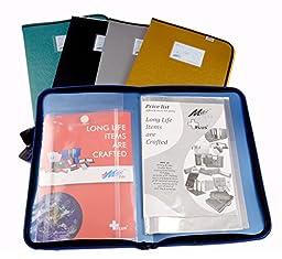 Max Fc Plastic Metallic Display Bag Folder With Zipper Enclosure - Choose Color
