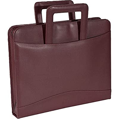 Royce Leather Zip Around Binder Padfolio,Purple,One Size