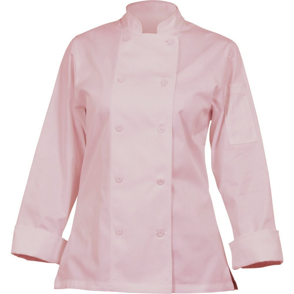 Chef Works Mens Marbella Chef Coat, Pink, Medium by Chef Works